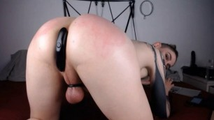 Hot Shemale Ass Spanking and Anal Toying
