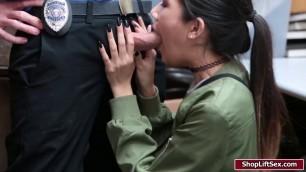 LP officer fucks Jade tight pussy hard