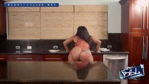 Cubana Lust Coco stunning black woman on a table Part 1 BLS