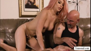 Bigtits TS Chanel gets rammed hard by her new BF Smith