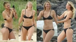 Horny Blonde Maria Sharapova Jerk Off Challenge