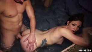 Top Sex Group sex with three young girls at the pool porn