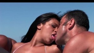 Cute Girl Gets Double Penetrated On A Boat