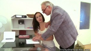 amazing young college girl gets fucked by her dirty old teacher porn
