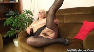 kinky pussy granny has passionate sex with her stepdaughter slutty hubby