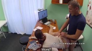 Brunette patient Lucia gets doctors dick for medical justification