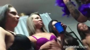 College hot party girls going down on each other