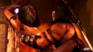 MKX AFTERSTORY FULL MATCH NIGHT WANDERER SCORHION AND MILEENA
