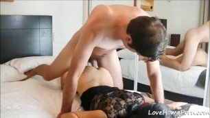 Cum On Her Ass After Some Doggy Beside The Mirror porn