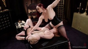 Lauren Phillips LESBIAN ANAL SLAVE Punishment of a disobedient girl