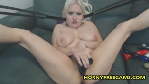 Cute Blonde Emo Teen Having Heavy Orgasm