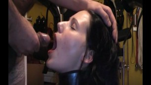 my slave Margarita drinks straight from my cock