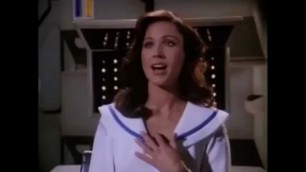 Erin Gray Back in the Day Dwarfs serve her