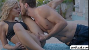 Busty Jessa Rhodes perfect body sweats after a hot sex