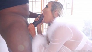 Samantha Saint Is Ready For The Biggest Ebony Dick Of Her Life