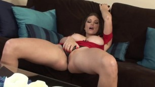 Heather Vandeven like masturbation on Red Dress