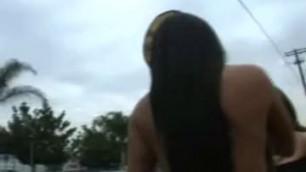 2 hot Latinas Mariah Milano in public