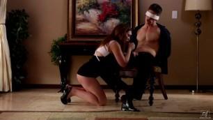 Naughty babe Riding Her Blindfolded Boyfriend