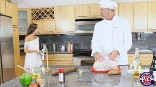 Chef fingers hot teen Zaya Cassidy