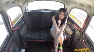 Pretty asian babe Jureka del mar gets facialed in the backseat