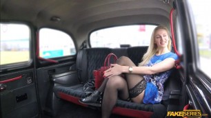 Milf Afina Kisser sucks and rides taxi drivers cock in the backseat