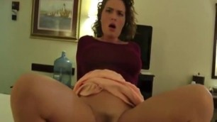Amateur POV with hot brunette milf