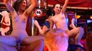 Shameless Whore Sibel Kekilli fucks for cash in sex club
