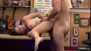Charming Harlow Harrison fucks pawnmans cock for cash