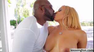 Latina Luna Star rubs her ass on a big black cock