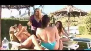Amateur group sex with big tits lesbians