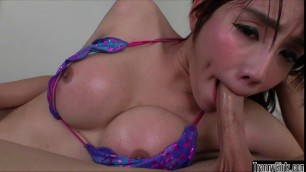 Horny Asian TS Grace gets her ass penetrated hard by her boyfriend