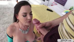 Busty chick Dana DeArmond recieves a hard anal pounding