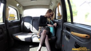 Naughty Melody Pleasure shows her perfect ass and pussy in the backseat