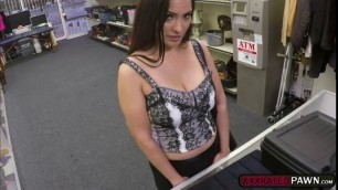 Naughty pawnman fucks a busty,Sophie Leonin his office