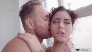 Horny hot chick Aysha recieves a hardcore pussy fuck