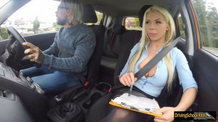 Busty blond instructor fucks FDS student