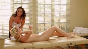 Blonde Young Gets Lesbian Massage