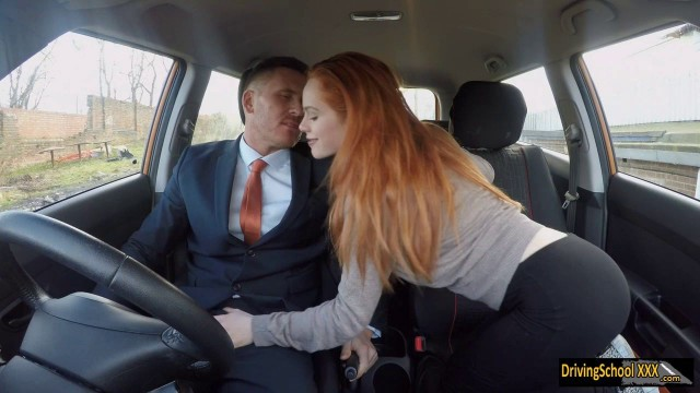 Redhead Ella Hughes fucked by instructor