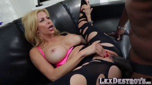 MILF and blonde Alexis Faux auditions and pounds Lexingtons bbc