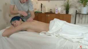 Blue Haired Young Gets Private Massage