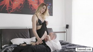 Sexy TS Casey fucks Chads ass from behind in doggystyle