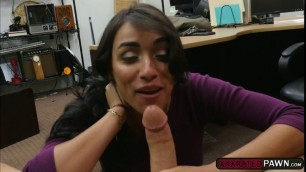 Sexy Latina Jessi fucks hard in the office for money