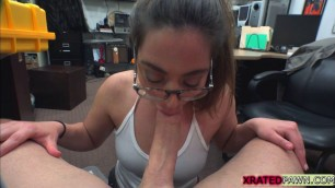 Busty babe Charlie Harper pawn her big ass for cash