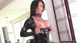 Hottie TS Bianka fucks her boyfriends tight ass from behind