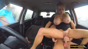 Sexy blond examinee fucked by instructor