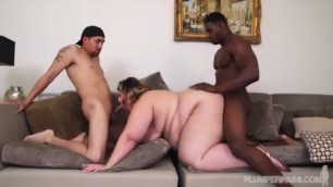 Thick Brunette Big Boobs Erin green fuck by two men