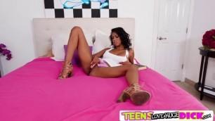 Ebony teen Nia Nacci hot interracial fuck with Bambino
