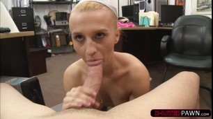 Sadie gets fuck while sucking a big dick
