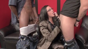 Horny Woman Emma Butt in incredible stockings squirting sex clip