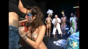 Sex party Naked girls suck dicks and fuck at a party